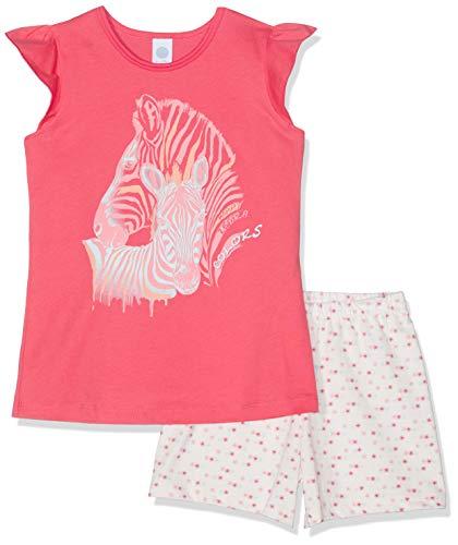 Sanetta Mädchen Pyjama Short Zweiteiliger Schlafanzug, Rosa (Melon 3585), 92 (Herstellergröße: 092)
