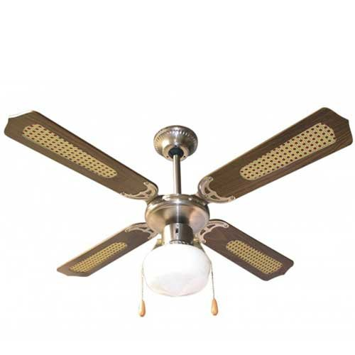 Ventilatore da soffitto 4 pale marrone Zephir ZFS9107M