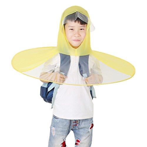 Chapeau de parapluie de baie créative ( couleur : Rose , taille : L ) Le jaune