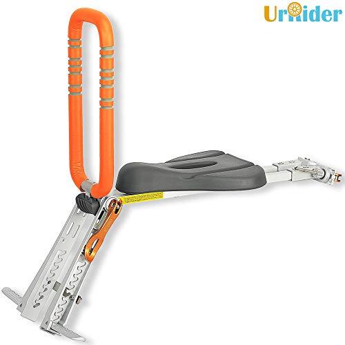 UrRider Siège de vélo pour Enfant, Portable, Pliable et ultraléger à l'Avant, Porte-vélos de Montagne, vélos Hybrides, vélos de Fitness - Orange