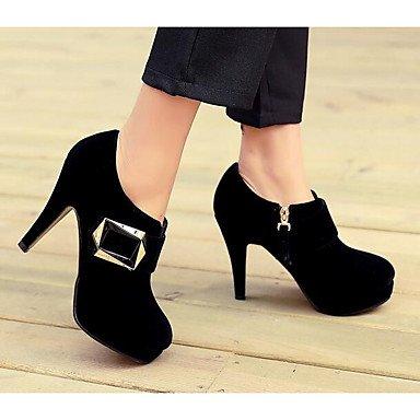 Rtry Mujer Zapatos Nubuck Cuero Primavera Verano Comfort Talones Para Casual Rojo Negro Us8 / Eu39 / Uk6 / Cn39