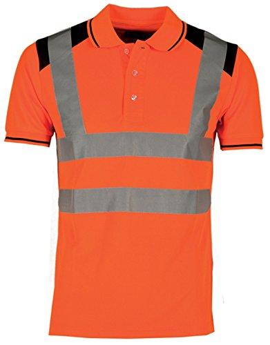 Polo da lavoro alta visibilità manica corta con bande riflettenti payper guard +, colore: arancio fluo, taglia: m