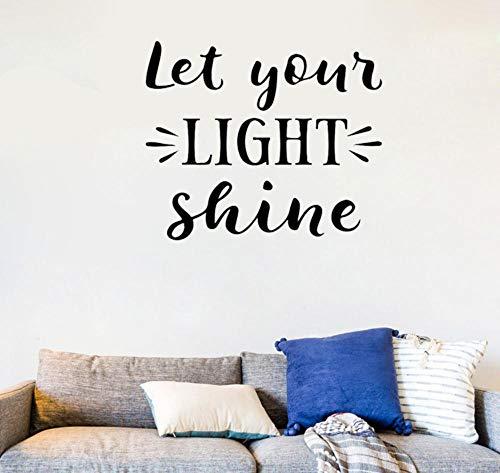 Let your light shine Quotes Art Deco PVC Wall Sticker 60cm × 52.2cm