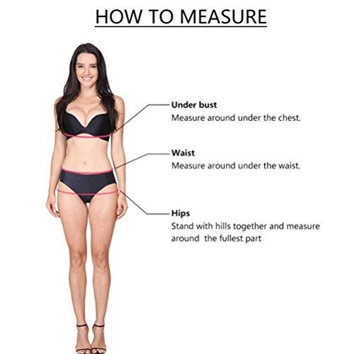 Angelof Bikini Push Up Rembourre Femme Maillot de Bain Solide Fille Haut de Maillot & String Rouge