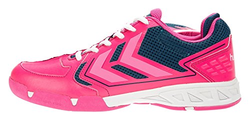 Hummel Celestial Court X7, Chaussures indoor femme Multicolore - Mehrfarbig (Pink Glo 3650)