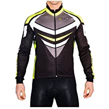 Giubbino invernale ciclismo antivento felpato giacca pesante mtb bici Lamp giallo fluo (S)