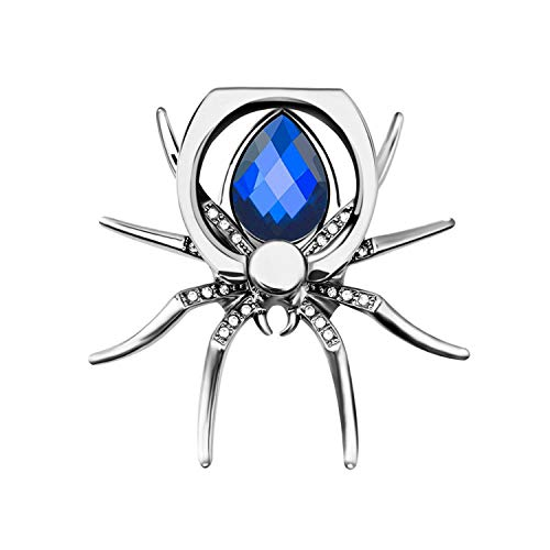 PENVEAT Universal Luxus Metall Spinne Bling Finger Ring Halter 360 drehbar Handy Stent Diamant Handy Halter Finger Ständer (Spinnen Ringe)