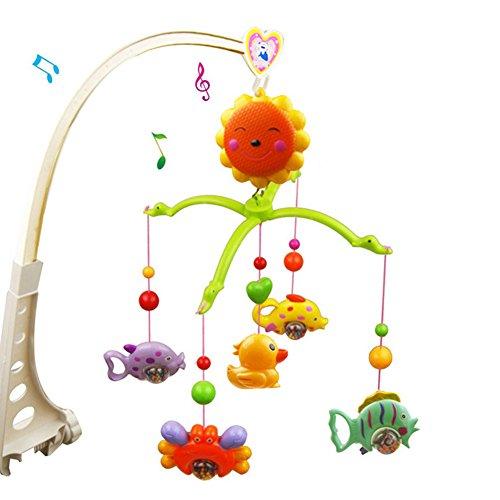 Mobile mit Musik für Kinderbett–Baby Musik Nachttisch bell-cartoon Kinderbett Aufhängen Bell–Aufzieh Musik Box Musik Spielzeug für 0–2Jahre Baby