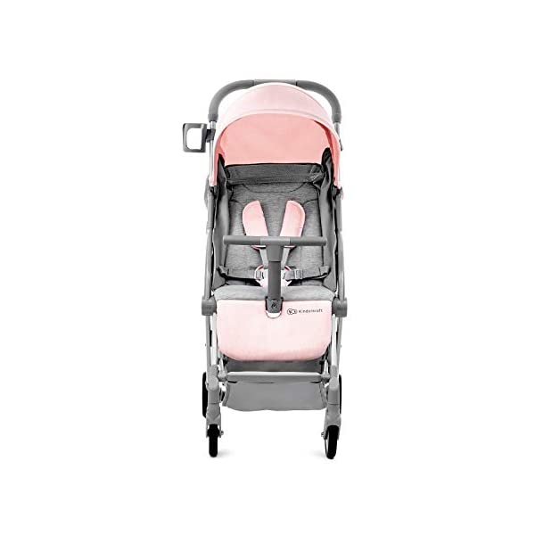 Kinderkraft Lightweight Stroller LITE UP, Baby Pushchair, Buggy, Compact Folding, Ajustable Footrest, Lying Position, with Accessories, Rain Cover, Footmuff, from Birth to 3.5 Years, 0-15 kg, Rosa kk KinderKraft Mechanism for easy folding with one hand After folding, the stroller resembles a briefcase You do not have to stop and move around the stroller to make eye contact with the child 3