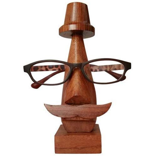 Sharvgun Brillenhalter aus Holz, Brillenhalter für Männer und Frauen, Spec-Halter, Brillenhalter aus Holz, Sonnenbrillenhalter, 6,5 Zoll, braune Farbe