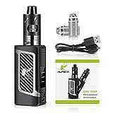 Kupbox E Zigarette Starter Set Ohne Nikotin, 80W E Shisha Dark Rider E zigarette mit 0.5Ohm 2ml Verdampfer Tank, 2000mah Akku Kit