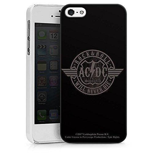 Apple iPhone 8 Silikon Hülle Case Schutzhülle ACDC Rock will never die Merchandise Hard Case weiß