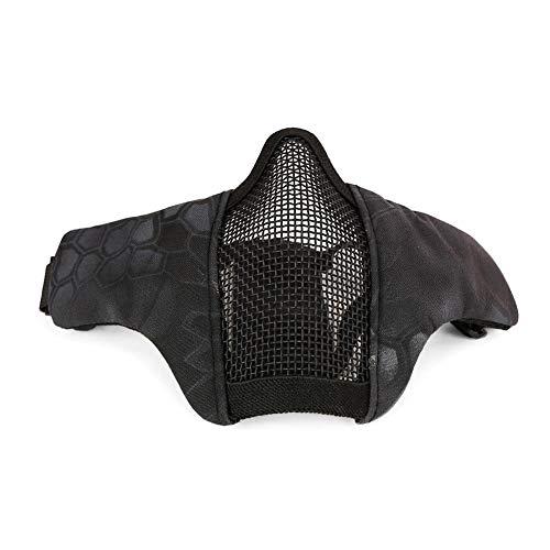 Alian máscara de equitación Transpirable máscara táctico Demi-Visage Militar protección Metal Mesh...