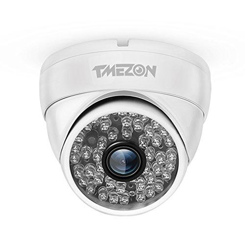 TMEZON 1/3'' 1000TVL 960H 48 IR-LEDs 3.6mm Objektiv Hohe Auflösung Errichten-IR-Schnitt Farbe Tagesnachtsicht 130ft Metall Draussen/Innen Wetter Sicherheits-Überwachung Dome Weiß CCTV-Kamera (1000tvl Dome)