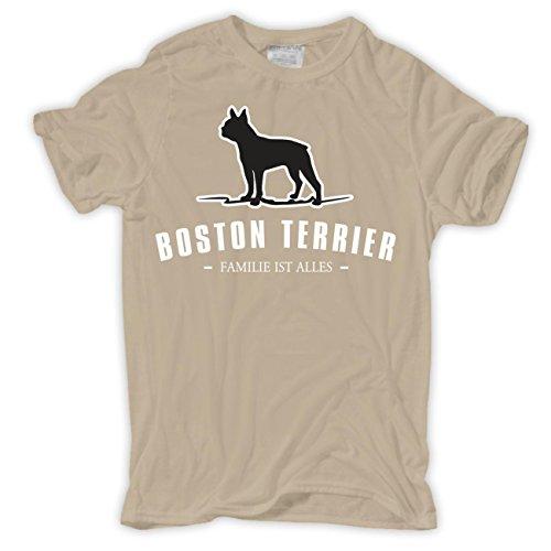 Spaß kostet Männer und Herren T-Shirt Boston Terrier - Familie ist Alles  Sand