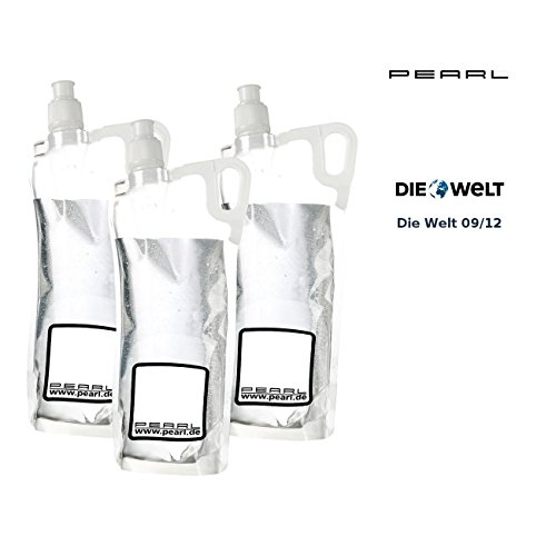 PEARL Faltflaschen: 3er-Pack Faltbare Trinkflasche für Sport & Freizeit, 2 Liter (Falttrinkflasche)
