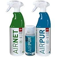 CH Quimica Super Pack AIRNET + AIRPUR + AIRDUCT Limpia y Elimina olores Aire Acondicionado