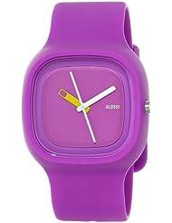 Alessi AL10015 - Reloj analógico automático unisex con correa de plástico, color morado