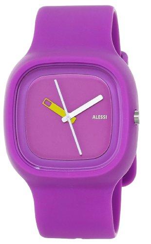 Alessi - AL10015 - Montre Mixte - Automatique - Analogique - Bracelet Plastique Violet