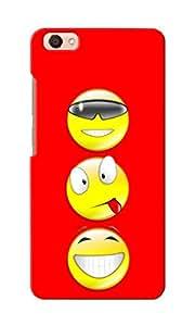 CimaCase Smiley Trio Designer 3D Printed Case Cover For Vivo V5