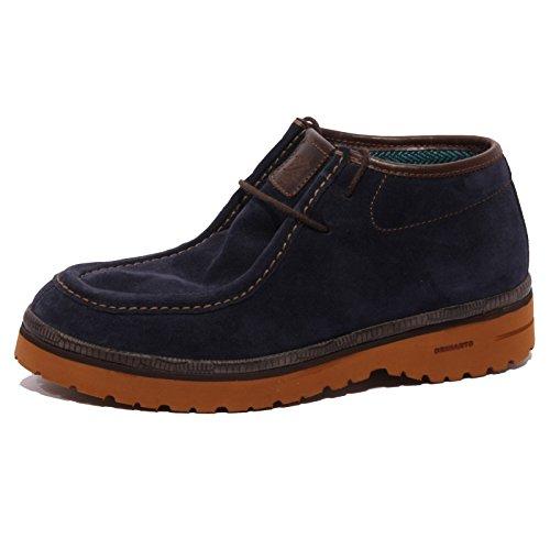 B1347 polacchino uomo BRIMARTS blu scarpa suede shoe men [43]