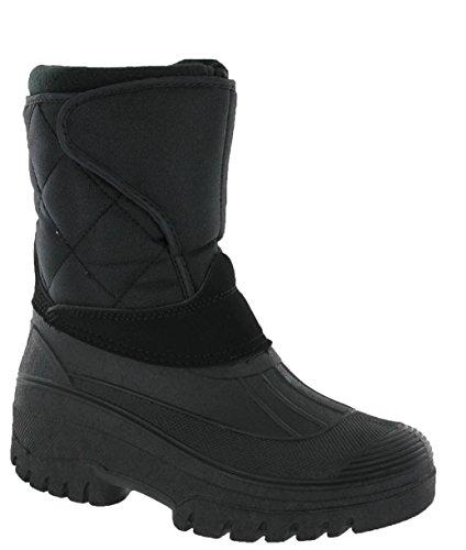 Neue Damen Reiten Yard Wasserdicht stabile Walking Regen Schnee Winter Ski Warm Farm Mucker Boots Schwarz