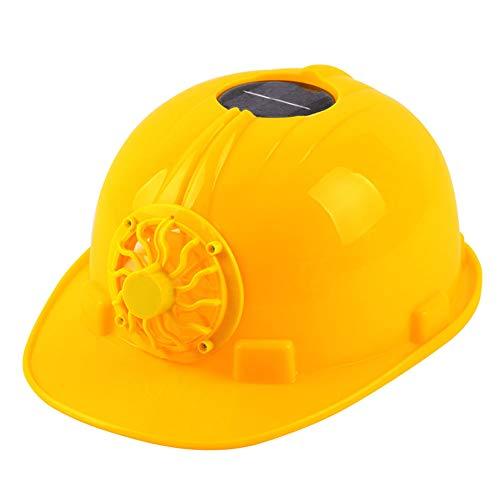 Kuizhiren1 Sicherheitshelm, BAU, Harter Hut, Sommer, Outdoor, Solarbetrieb, Kühlventilator, Sicherheitshelm, Outdoor Arbeitsplatz, Schutzkappe gelb