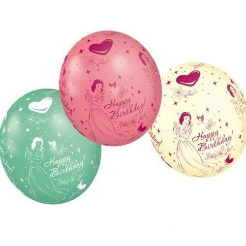 Disney Princess 'Happy Birthday' Metallic Latex Balloons (Packung zu 5)