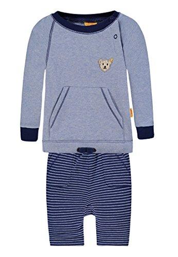 Steiff Jungen Strampler 2tlg. Set Sweatshirt 1/1 Arm + Jogginghose, Blau (Chambray Blue 31 Preisvergleich