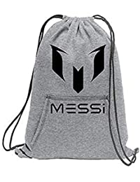 596291a0bf33 Crazy Prints Cotton Fabric Drawstring Messi Printed Sports Cinch Backpack