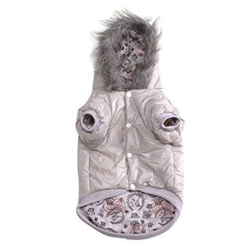 Haustier-Hunde verdickten warmes Kostüm für Herbst-Winter-Welpen-PU-Hoodie-Mantel, der gegen schmutziges, H, M, China beständig ist