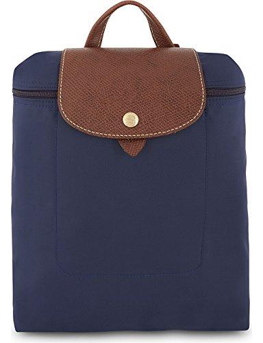 Longchamp Le Pliage Rucksack, Nylon-Segeltuch, Marineblau