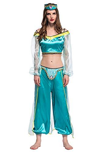 xiemushop - Disfraz de Princesa Arabe Para Mujer Traje de bailarina Cosplay Halloween Talla L