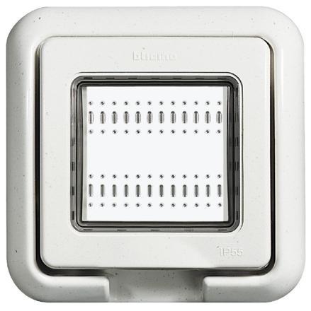 Bticino idrobox - Tapa idrobox ip55 blanco light 2 módulos