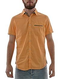 chemise manches courtes lee cooper 005376 daniel orange