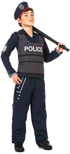 Librolandia - Disfraz de policía para niño, talla 5 - 6 años (12196)