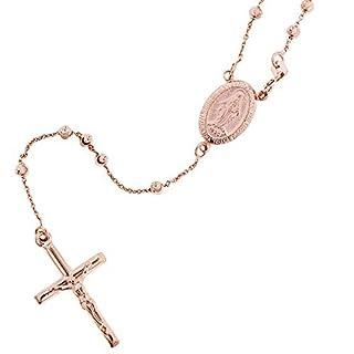 Officina Bernardi Sterling Silver Rosary Necklace, 17.5