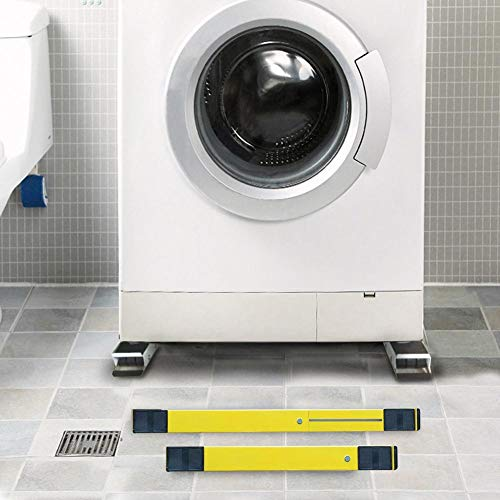 NOWAYTOSTART Waschmaschinensockel Untergestell Waschmaschine Bodenrahmen Halterung Basis,für Verstellbare Sockel Kühlschrank Trockner, Waschmaschine und Kühlschrank