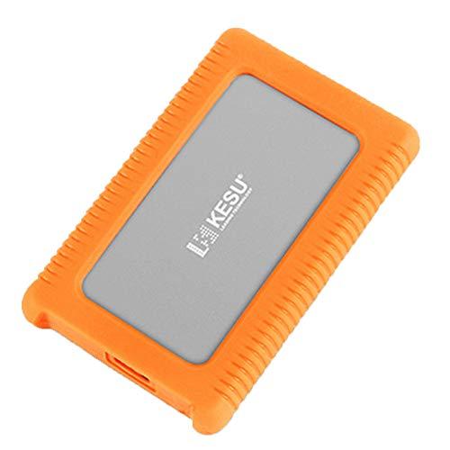GXLO Externe Festplatte Mini USB 3.0 Portable 2,5-Zoll-Schock-, Drop- und Crush-resistent für PC und Mac,Gray,160GB -