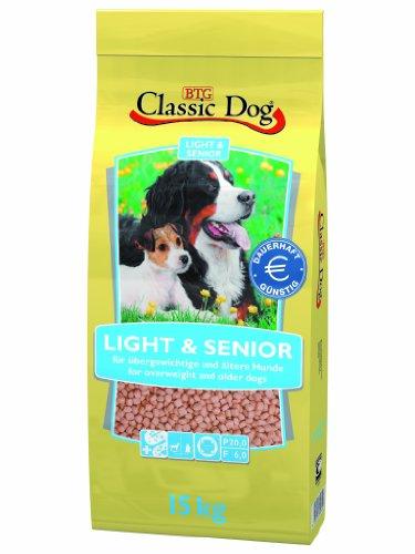 Classic Dog 40028 Light und Senior 15 - Hundefutter Dog Classic