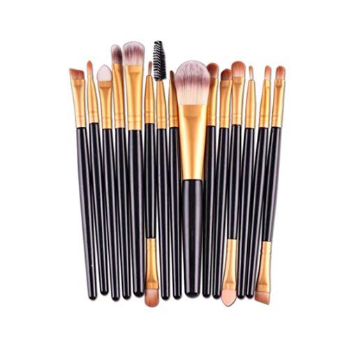 Make up Pinsel Set 15 Stück Premium Kosmetik mit Synthetisches Haar Pinselset kosmetik Kabuki Foundation Blush Eyeshadow Eyeliner Kompaktpuder Abdeckcremes Die Schönheit Tools(Schwarz) -