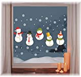heekpek Immagine della Finestra Fiocco di Neve Decorazioni per Finestre di Natale Adesivi Non Tossici di Babbo Natale Adesivi per Alci Decorazioni Natalizie per la Famiglia e Gli Affari (C)