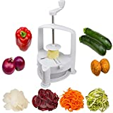 Brieftons Vertico SpiralschneiderGemüse-Spiralschneider, zur Herstellung von frischer Gemüse-Pasta, ideal für die Zubereitung von vegetarischen Gerichten zur gesunden Ernährung, mit Reinigungsbürste und 3 Rezept-Ebooks (in englischer Sprache)