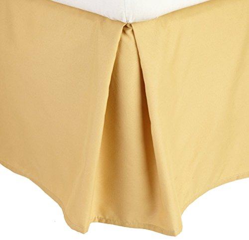 Eleganten Komfort 100gsm Bett Rock Staub Rüschen faltenfrei massiv–Bundfaltenhose Tailored 35,6cm Drop, baumwolle, gold, King Size (Queen Bed Rock Gold)