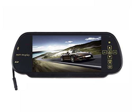 Speedwav 7 Inch Rear View Mirror Screen With Bluetooth+USB+SD Card