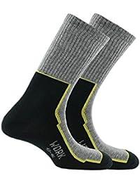Kindy 2 paires de chaussettes de travail pour chaussures de sécurité en coton