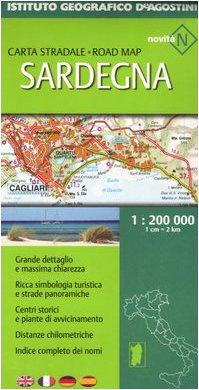 Sardegna 1:200.000. Ediz. multilingue (Carte stradali regionali d'Italia)