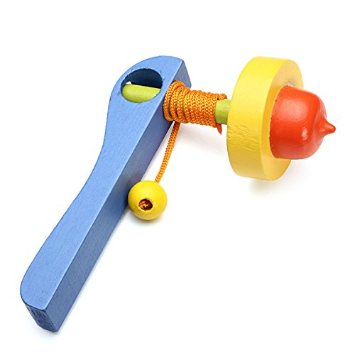 hen Griff Rotation Kreisel Aus Holz Neuheit Spielzeug (Leuchten Neuheit Spielzeug)