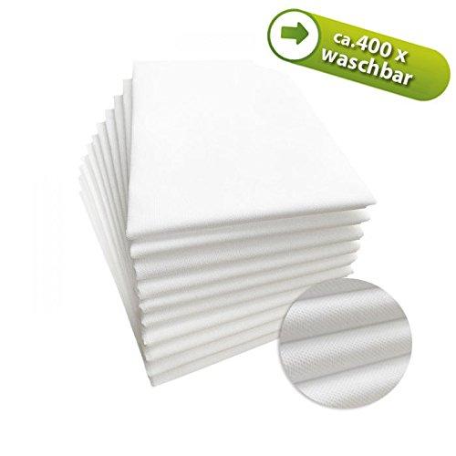 """PHYSIOFIT24 """"Premium PP70"""" Waschfaserlaken 10 St. 80x210cm (bis zu 400 mal waschbar) Waschvlies Auflage für die Behandlungsliege/Massageliege (Weiß) Vlieslaken"""