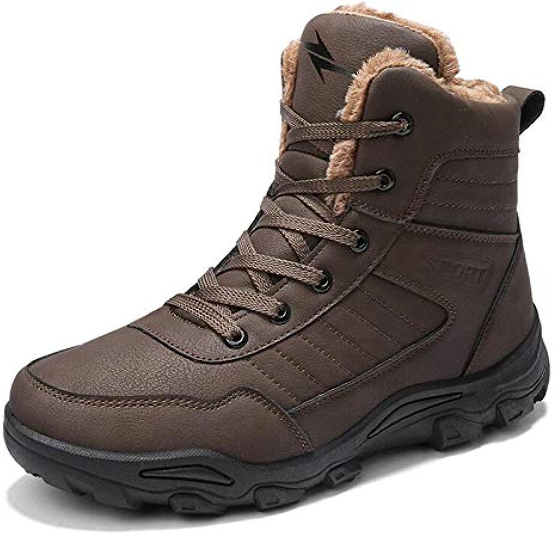 9291053b5 FHCGMX Stivali da Uomo Inverno con Stivali da Neve Caldi Stivali Invernali  da Uomo Scarpe da